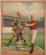 American Vintage Baseball poster by the Calvert Lithographing Co 1895